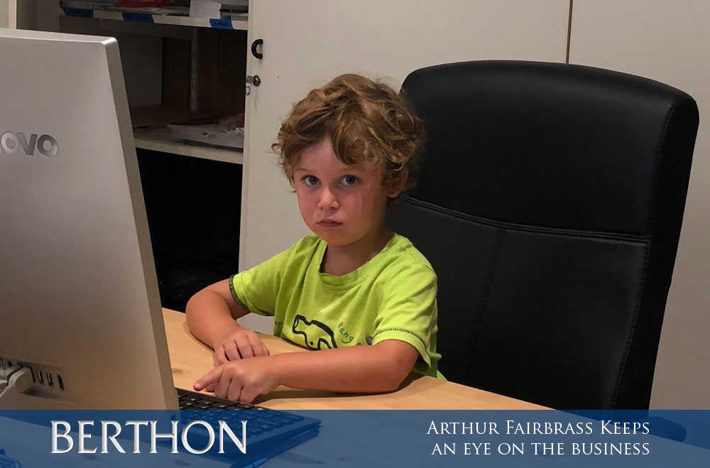 Arthur Fairbrass keeping an eye on the business