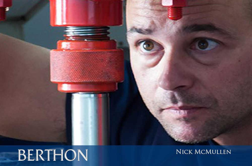 Nick McMullen in engineering at Berthon Spain