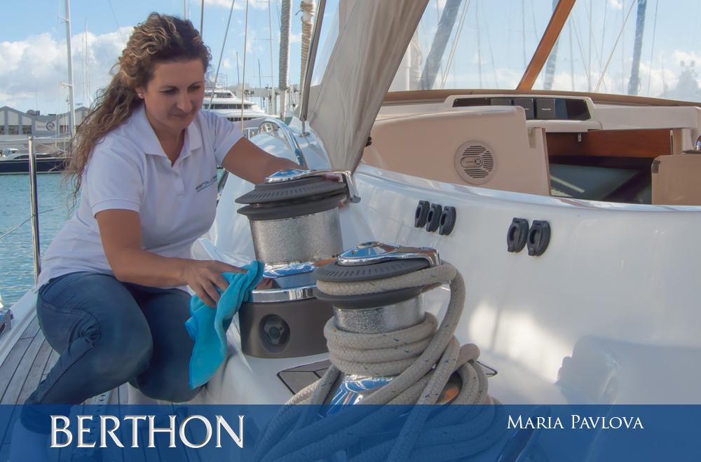 Maria Pavlova - interior cleaner at Berthon Spain