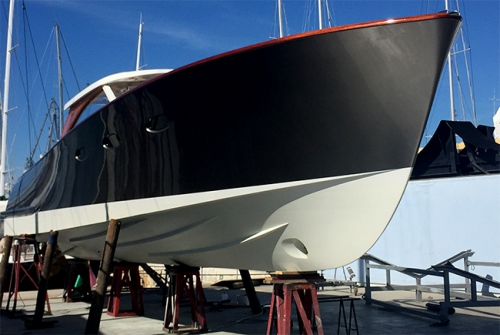 It's not the biggest boat we've worked on by a long stretch but it's certainly stunning!!