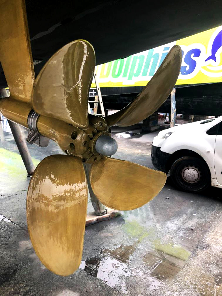 Propeller serviced and painted