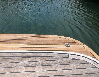 Custom teak bathing platform sections