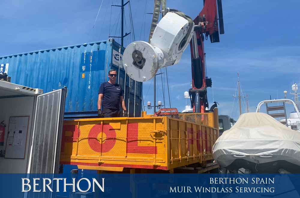 MUIR Windlass Servicing at Berthon Spain
