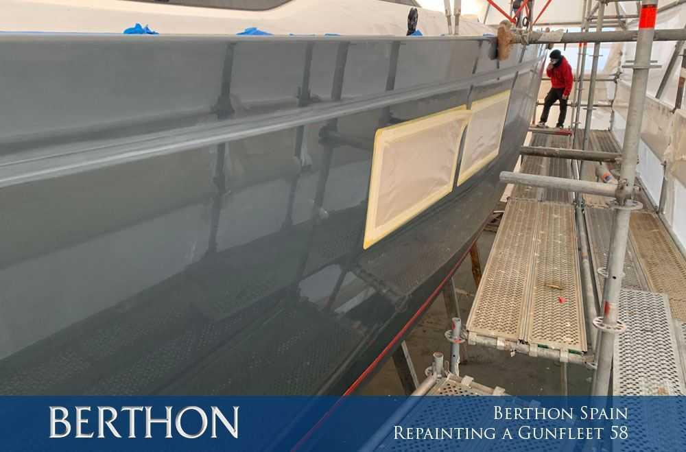 Berthon Spain – Repainting a Gunfleet 58