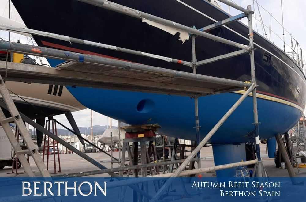 Autumn Refit Season at Berthon Spain
