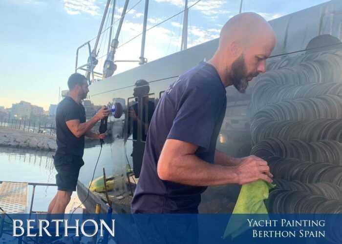 Yacht Painting at Berthon Spain this Winter